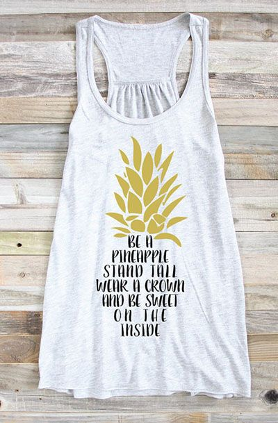 Be A Pineapple Tank Top