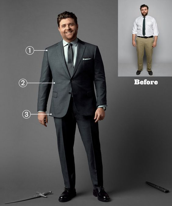 195d04d57b385 Suits for Big and Heavy Men (4) | What to wear | Big man suits, Tall ...