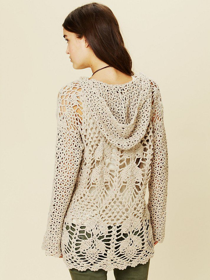 Crochet Speckled Hoodie at Free People Clothing Boutique | crochet ...