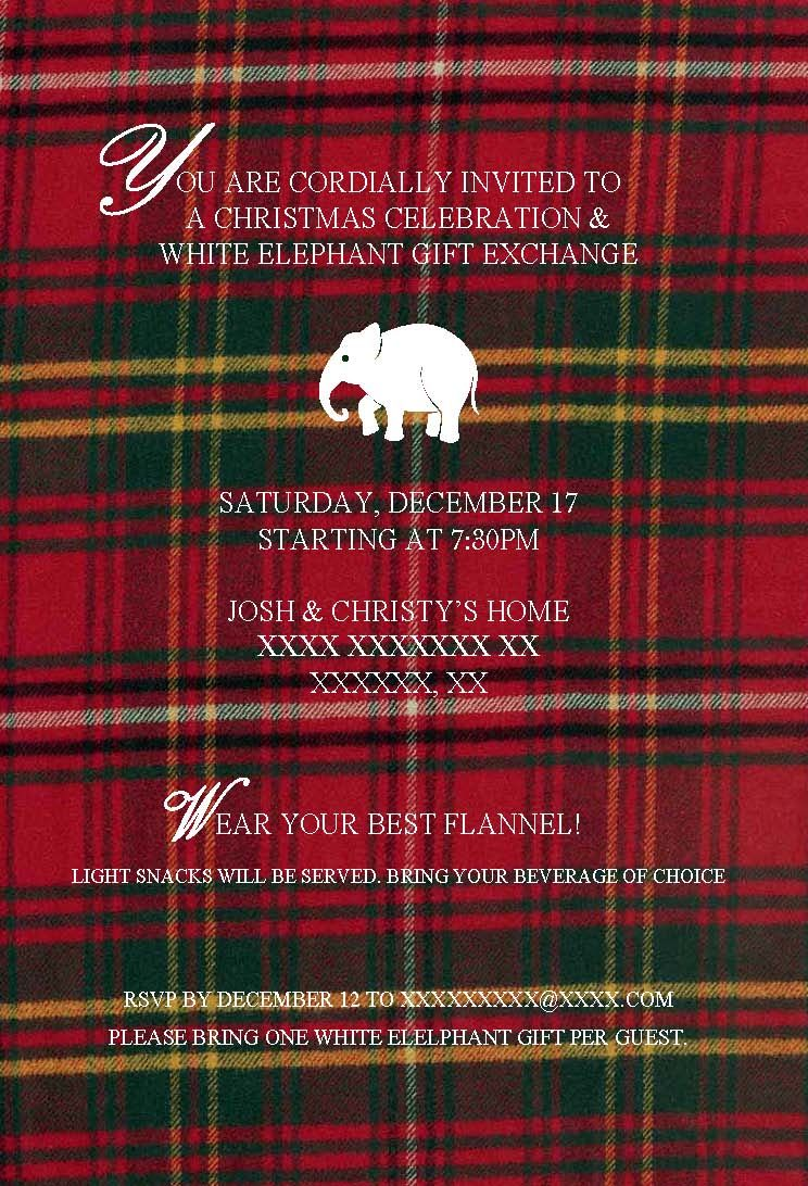 our annual Christmas party invite! find your favorite Christmas ...