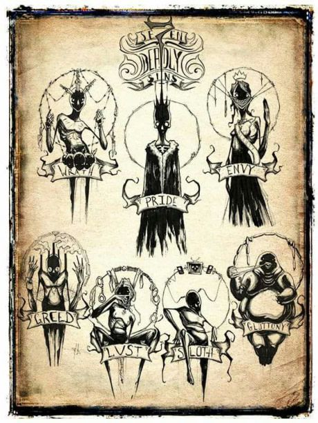 the seven deadly sins ink pinterest art drawings and art drawings