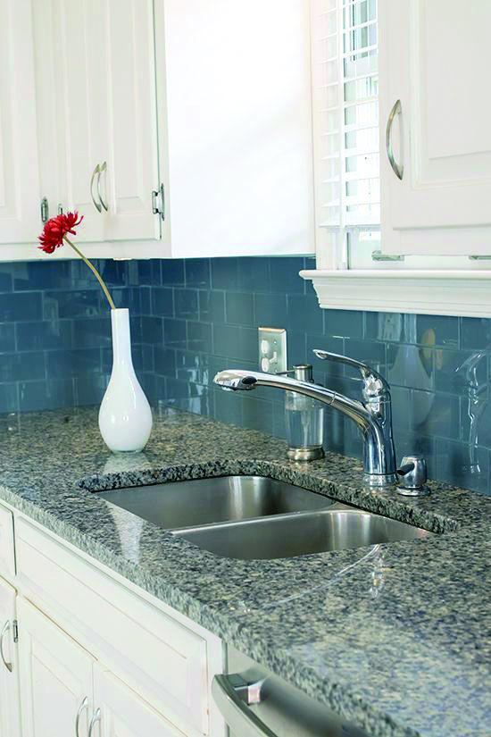 Blue Gem Marble Slabs Diy Backsplash Stick Tile