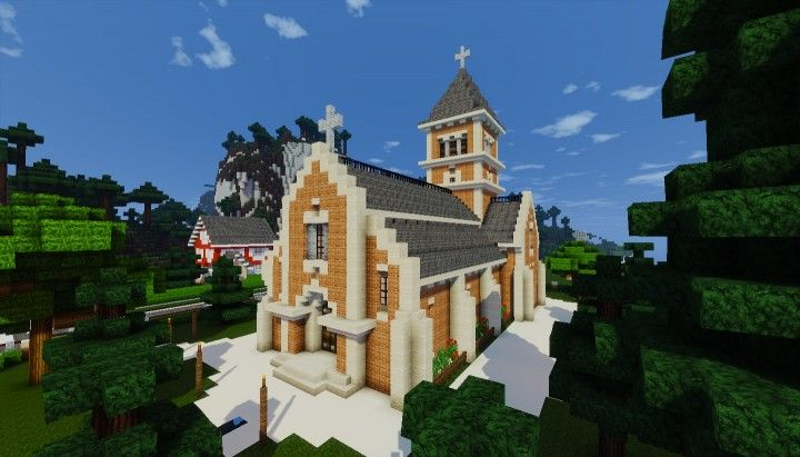 Small Church Petite Eglise Minecraft Project Stuff To