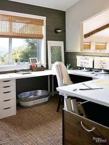 The Benefits Of A U Shaped Or L Shaped Desk In 2020 Ikea Home Office U Shaped Office Desk Home
