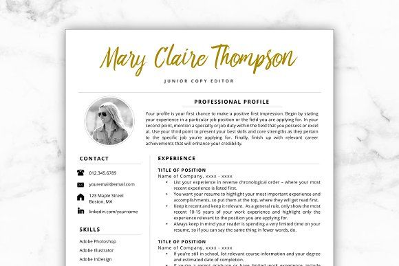 Resume Template/CV - Mary @creativework247 Resume Templates - Copy Editor Resume