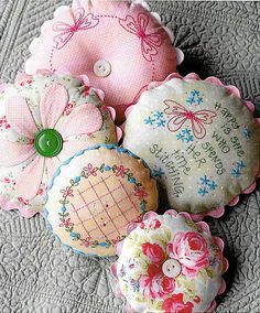 Pattern ''Sarah's Pincushions'' Hand Embroidery, A
