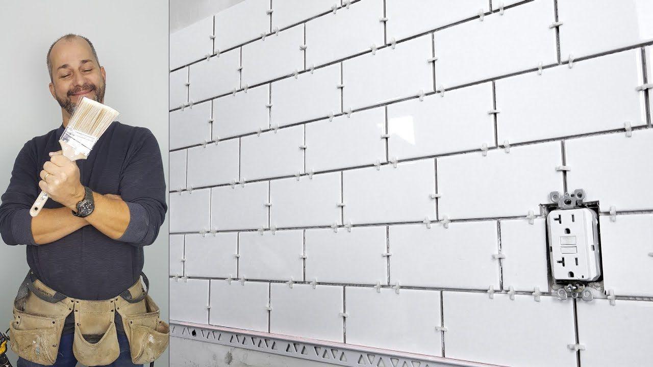 How To Install A Subway Tile Back Splash Youtube Tile