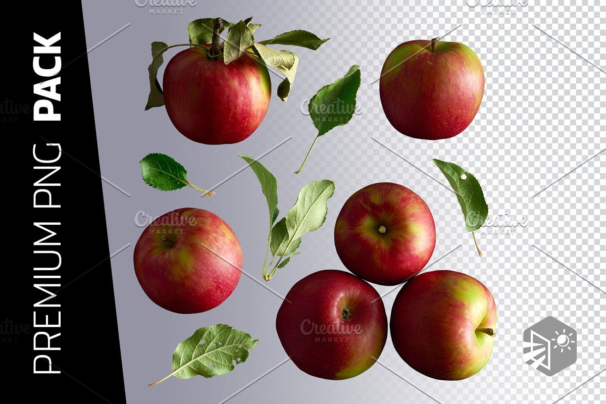 7 Apples And Leaves Png Images Png Images Apple Png