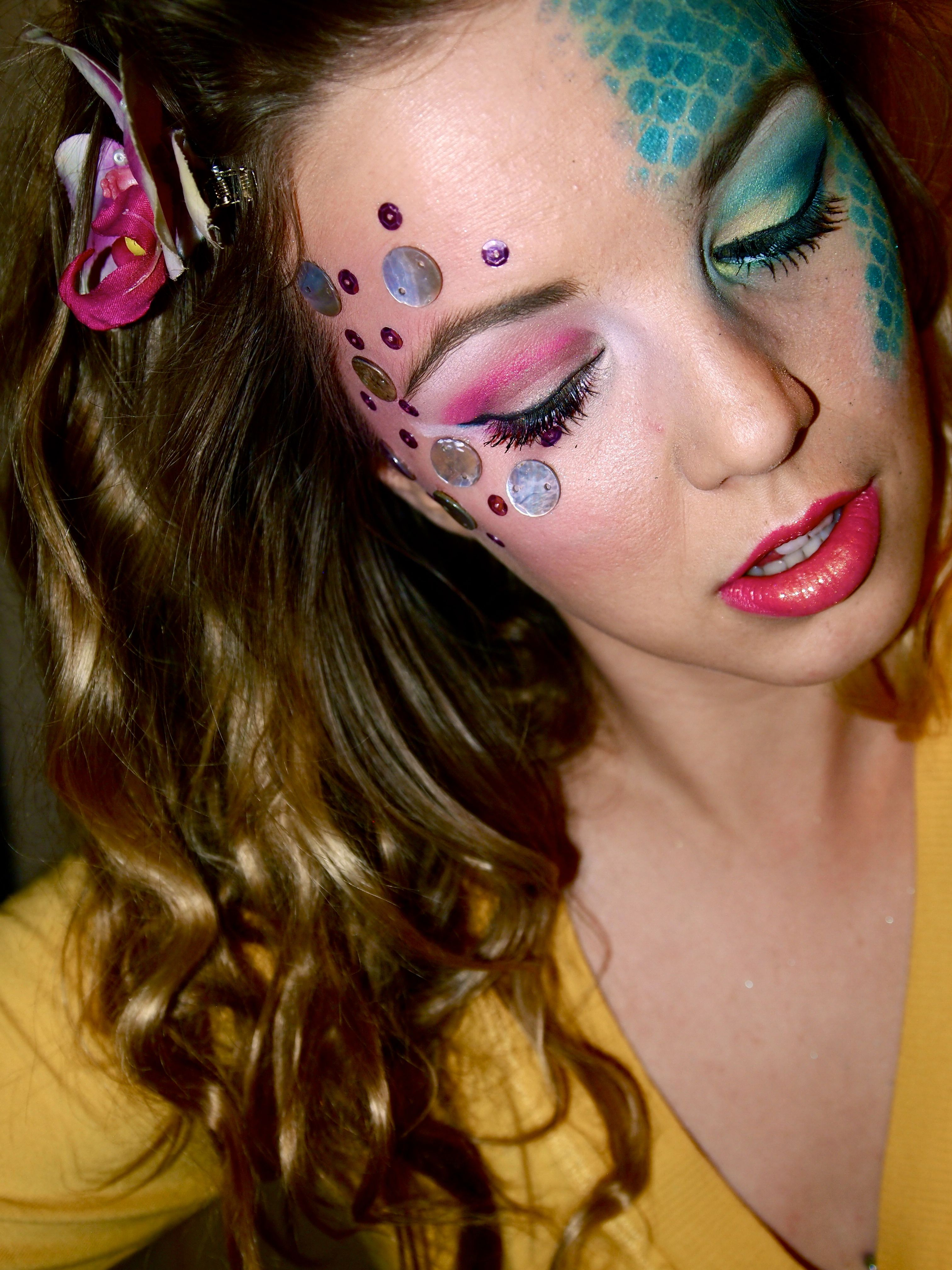 Mermaid Makeup: The BeShelled Femme or The Scaled Goddess | Face ...