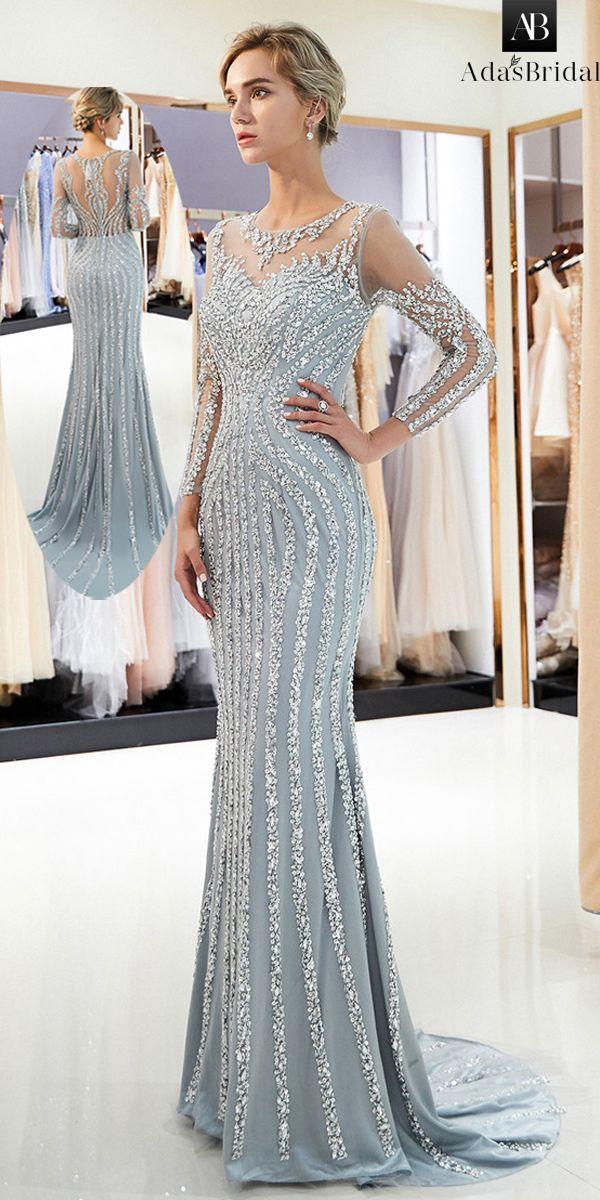 NEU! Shining Tulle Jewel Ausschnitt Mermaid Formal Dress With Beadings   – princess