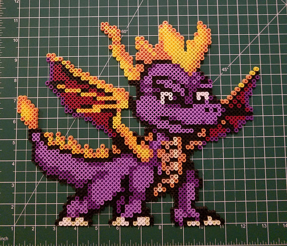 Spryo the Dragon Perler Bead Art | perler ideas | Perler