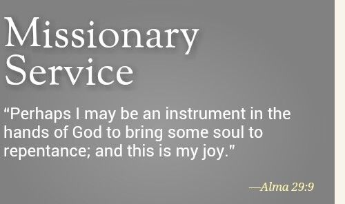 Scripture for missionaries service