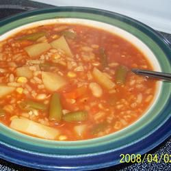 This was delicious! Quick and Easy Vegetable Soup Allrecipes.com