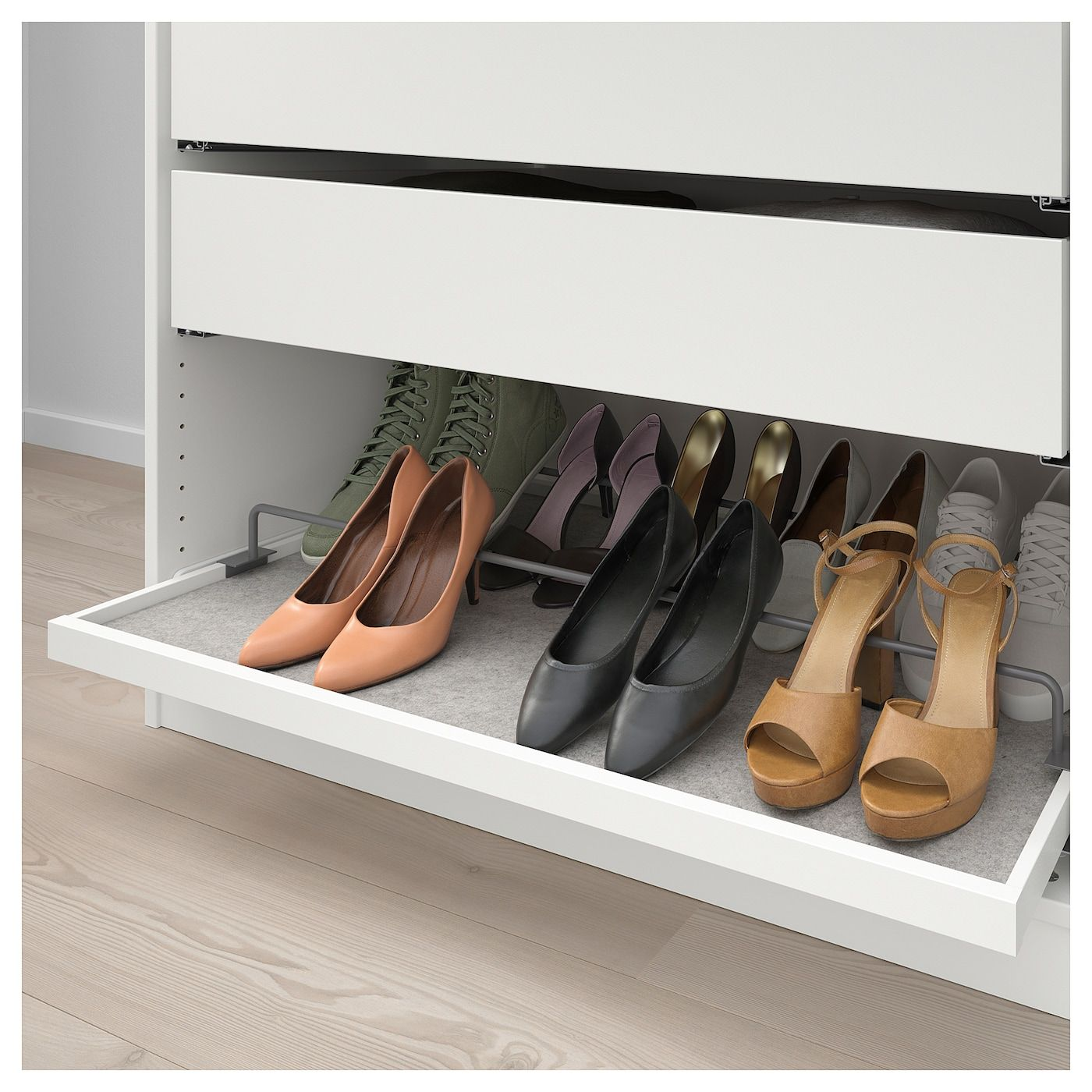 Komplement Pull Out Tray With Shoe Rail White Dark Gray 39 3