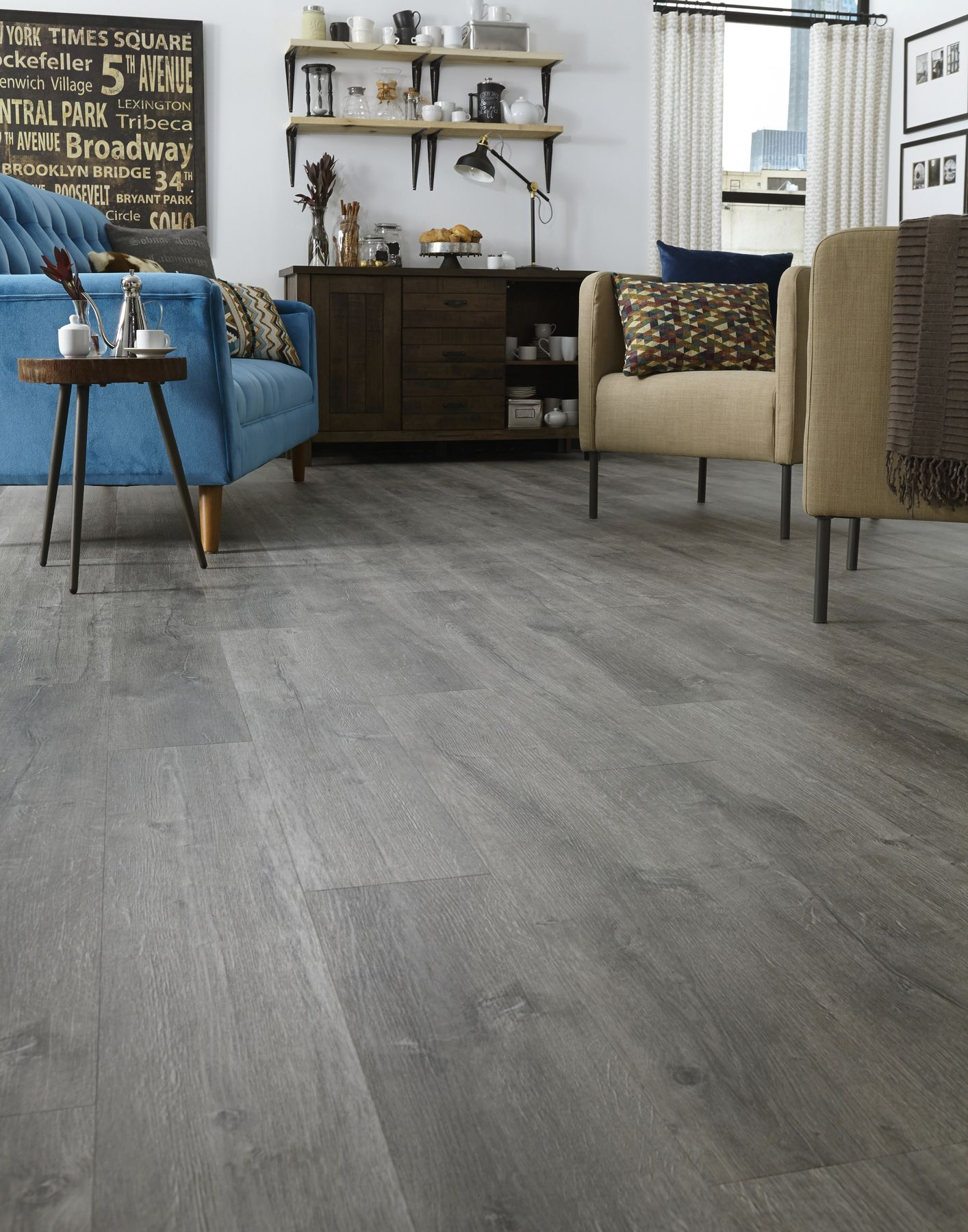 """Adura® Max Aspen (color """"Alpine"""" shown) is a weathered"""