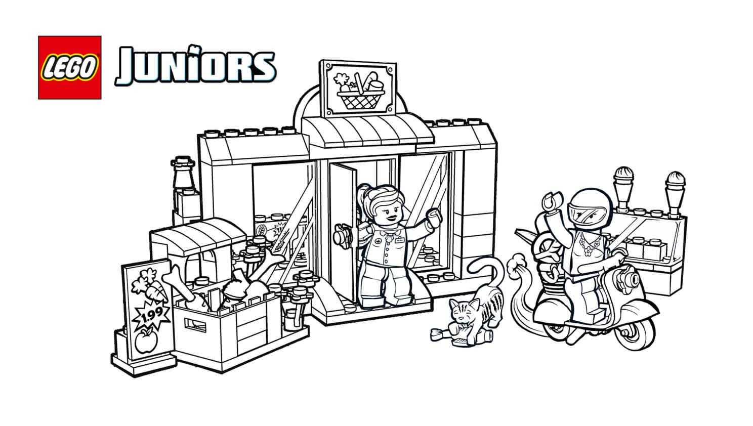 Lego 10684 Supermarket Suitcase 2 Coloring Sheet Lego