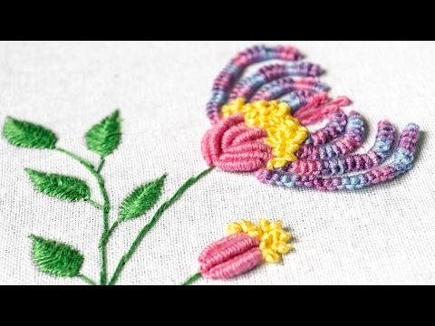 Brazilskaya Vyshivka Gvozdika Hand Embroidery Carnation Flower Youtube Hand Embroidery Designs Hand Embroidery Sewing Embroidery Designs