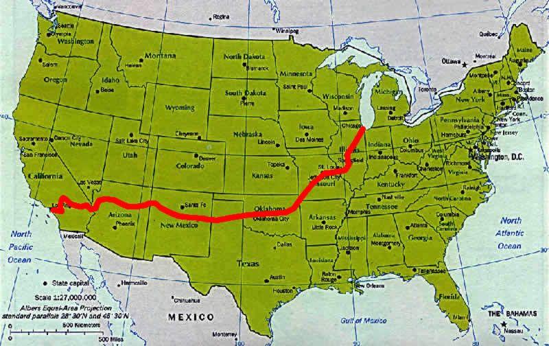 route 66 map...SPRING BREAK????!!!! @Emily Houser, @Elizabeth VandeWalle, @Brett McMurray, @Lauren Stark