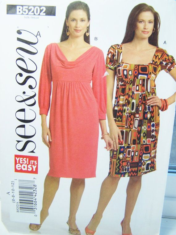 Butterick B5202 See & Sew Sewing Pattern