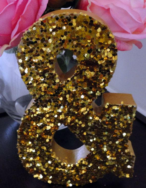 Chunky Gold Glitter LettersWedding by RomanticSouthern on Etsy, $9.00