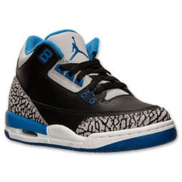 Boys' Grade School Air Jordan Retro 3 Basketball Shoes | Finish Line | Black /