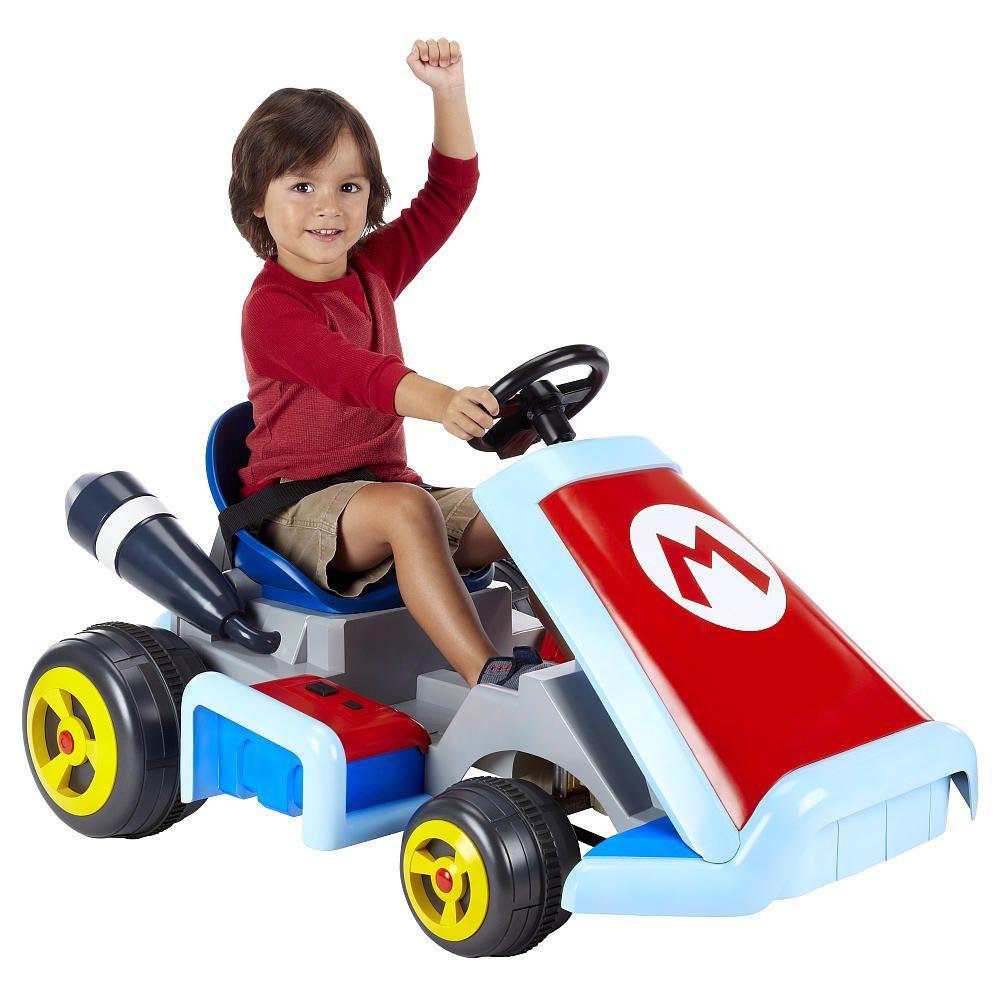 Rideable Super Mario Kart Races Into Reality For Kids Anyway Mario Kart Super Mario Kart Mario