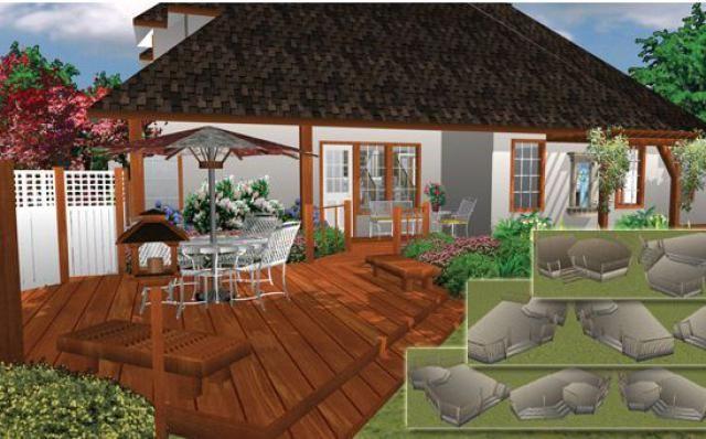 The Best Free Plans For Your Deck: Punch! Software: Landscape, Deck U0026