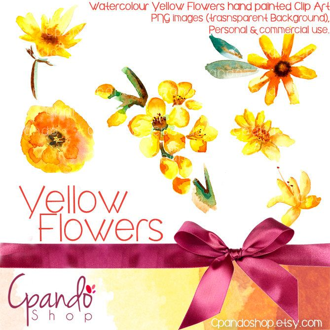 Yellow Flowers 6 Clip Art Png Images Transparent Background Floral