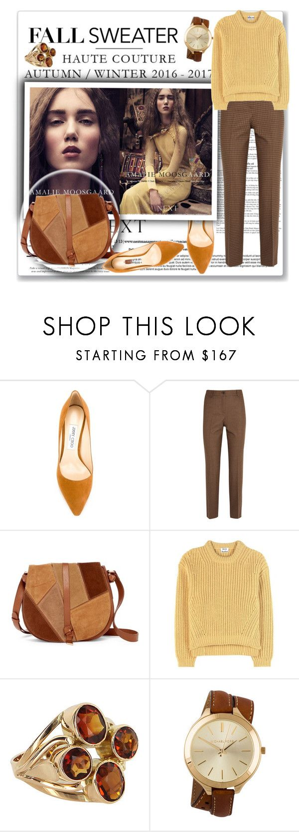 """""""Untitled #1804"""" by juyliana-vl on Polyvore featuring Jimmy Choo, Michael Kors, Foley + Corinna and Acne Studios"""