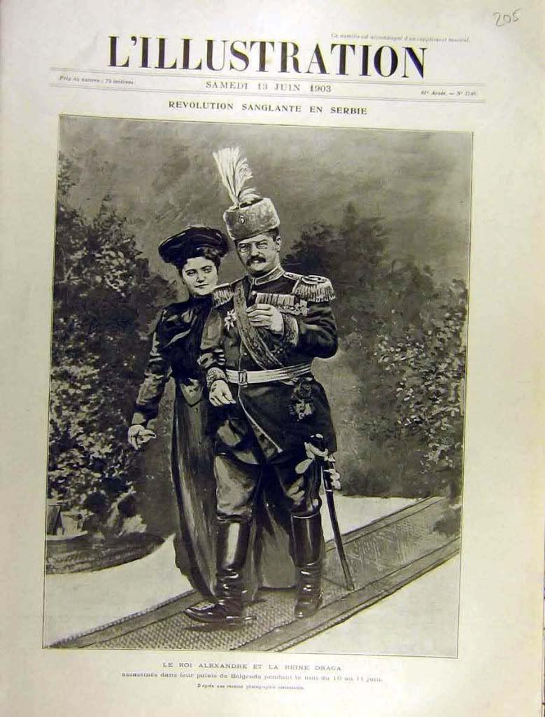 Jedna od zadnjih slika Kralja Aleksandra i Kraljice Drage u Madjarskoj 1903. One of the last known photos of King Alexander Obrenovic of Serbia and Queen Draga taken in Hungary in 1903.