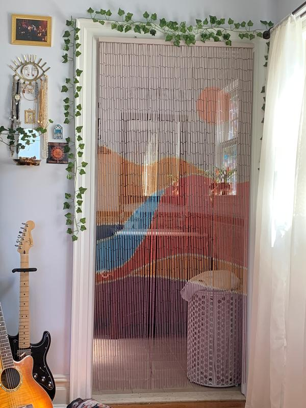Landscape Bamboo Beaded Curtain In 2020 Beaded Curtains Bamboo Beaded Curtains Beaded Door Curtains