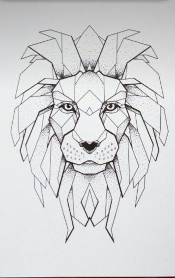 47 Trendy Tattoo Geometric Lion Geometric Lion Geometric Lion Tattoo Geometric Drawing Popular body areas for lion tattoos 3. pinterest