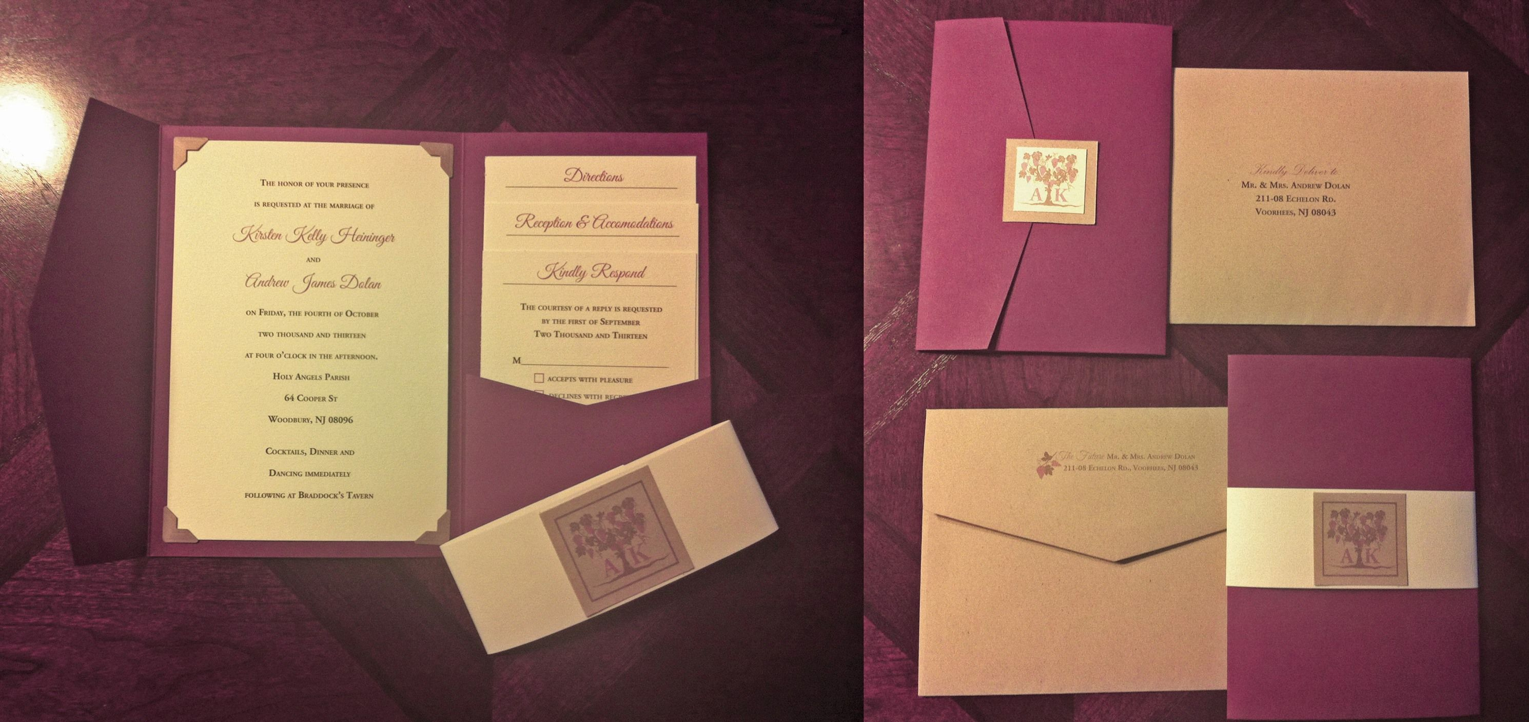 Diy wedding invites designed the cards in illustrator and used