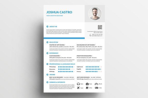 Creative Resume By Khidd On Creativemarket  Beautiful Resume