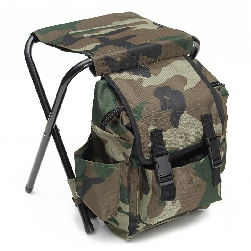 Fishing Chair Rucksack Sears Office Chairs Camo Foldable Camping Backpack Campingbackpack
