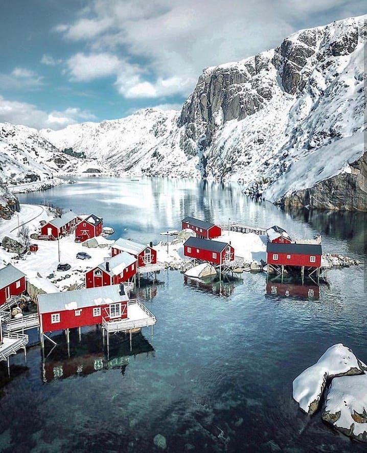Sakrisøy Alpleri kar manzaraları ile ilgili görsel sonucu