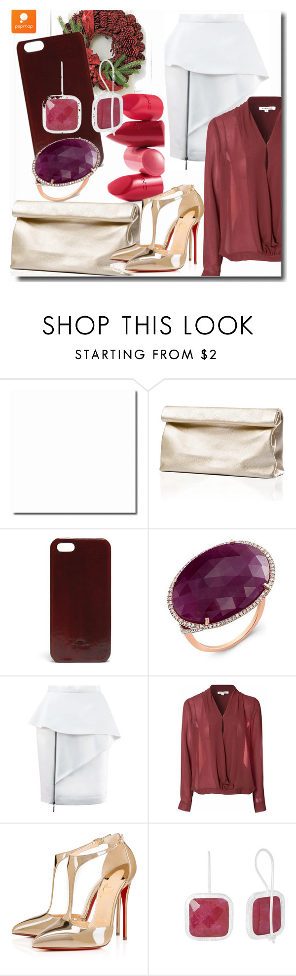 """""""Popmap 34"""" by goldenhour ❤ liked on Polyvore featuring Rossetto, Marie Turnor, Glamorous and Christian Louboutin"""