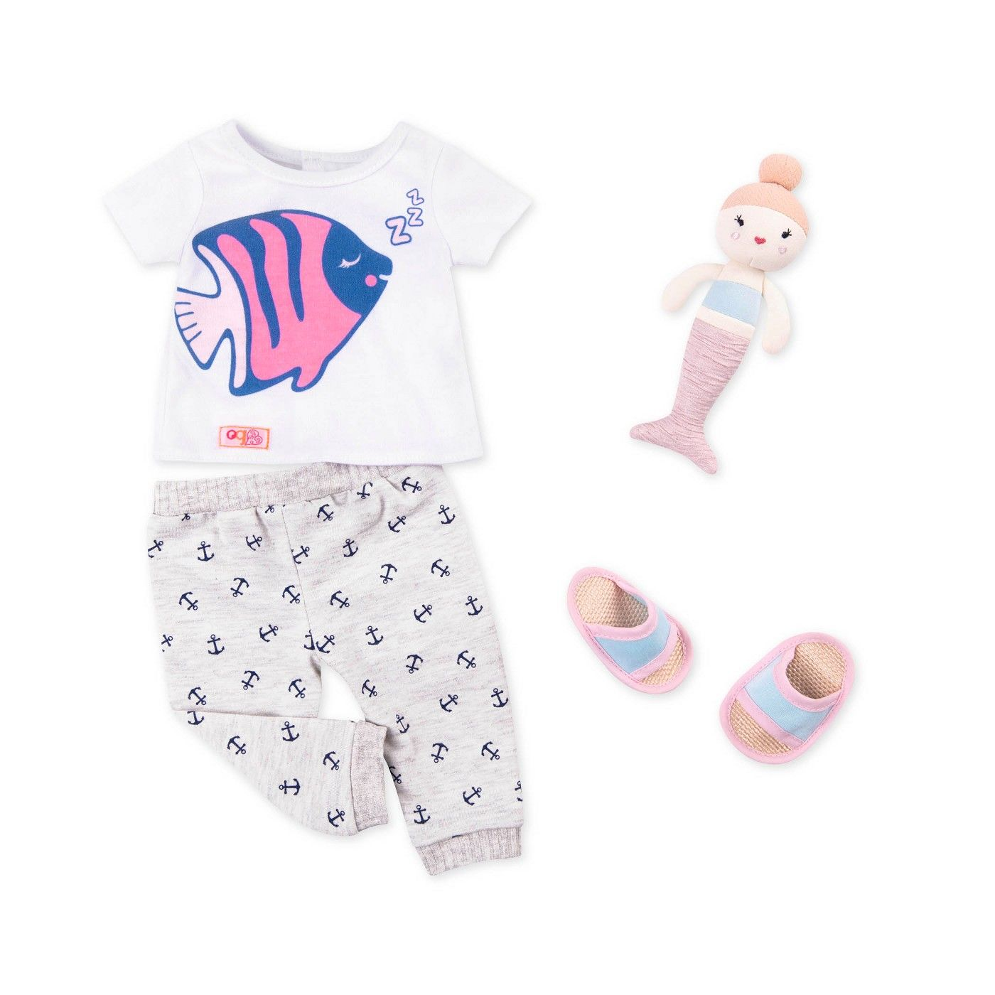 Clothes for 18/'/' American Doll Our Generation Pajamas Shoes Outfits Dress