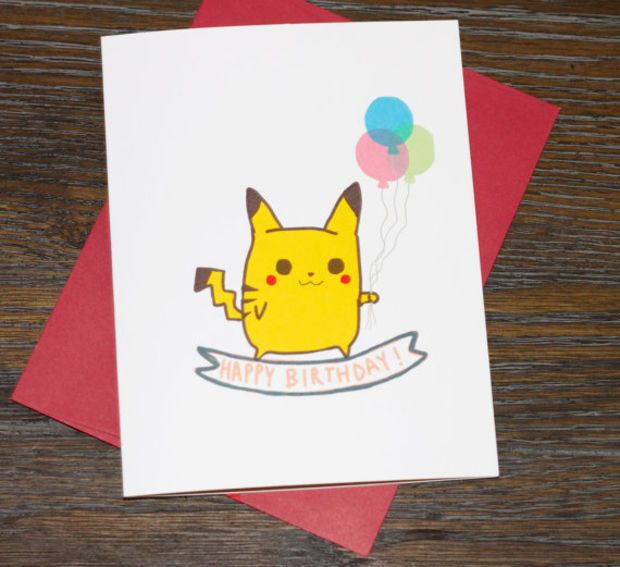 Pokemon Pikachu Happy Birthday Card More