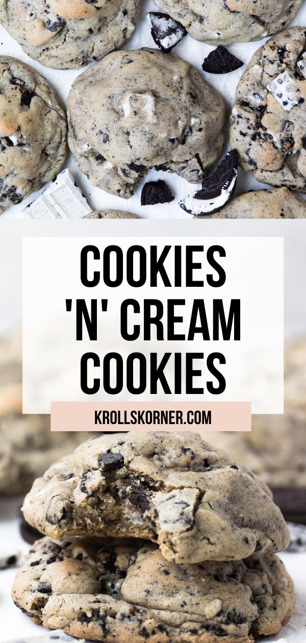 Cookies And Cream Cookies Video Kroll S Korner Recipe Cookies N Cream Cookies Cookies And Cream Hershey S Cookies N Cream