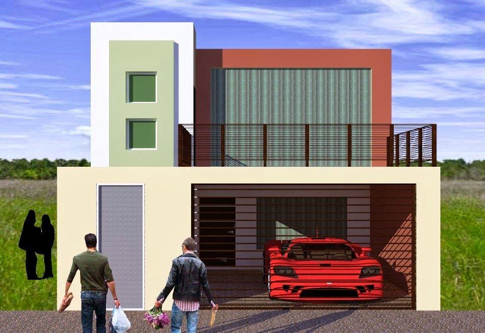 Fachadas y casas casas sencillas y modernas color for Frentes de casas sencillas