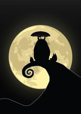 steel poster Movies & TV nightmare christmas mashup totoro neighbor anime moon