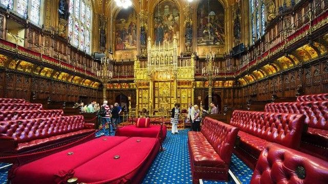 Houses Of Parliament Interior. The House of Commons  London England A place where government policies have been