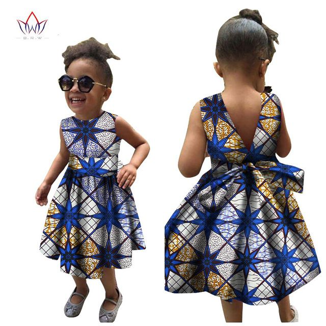 African Kids Ankara Dress Girls Dashiki Dress Girls Apparel Summer