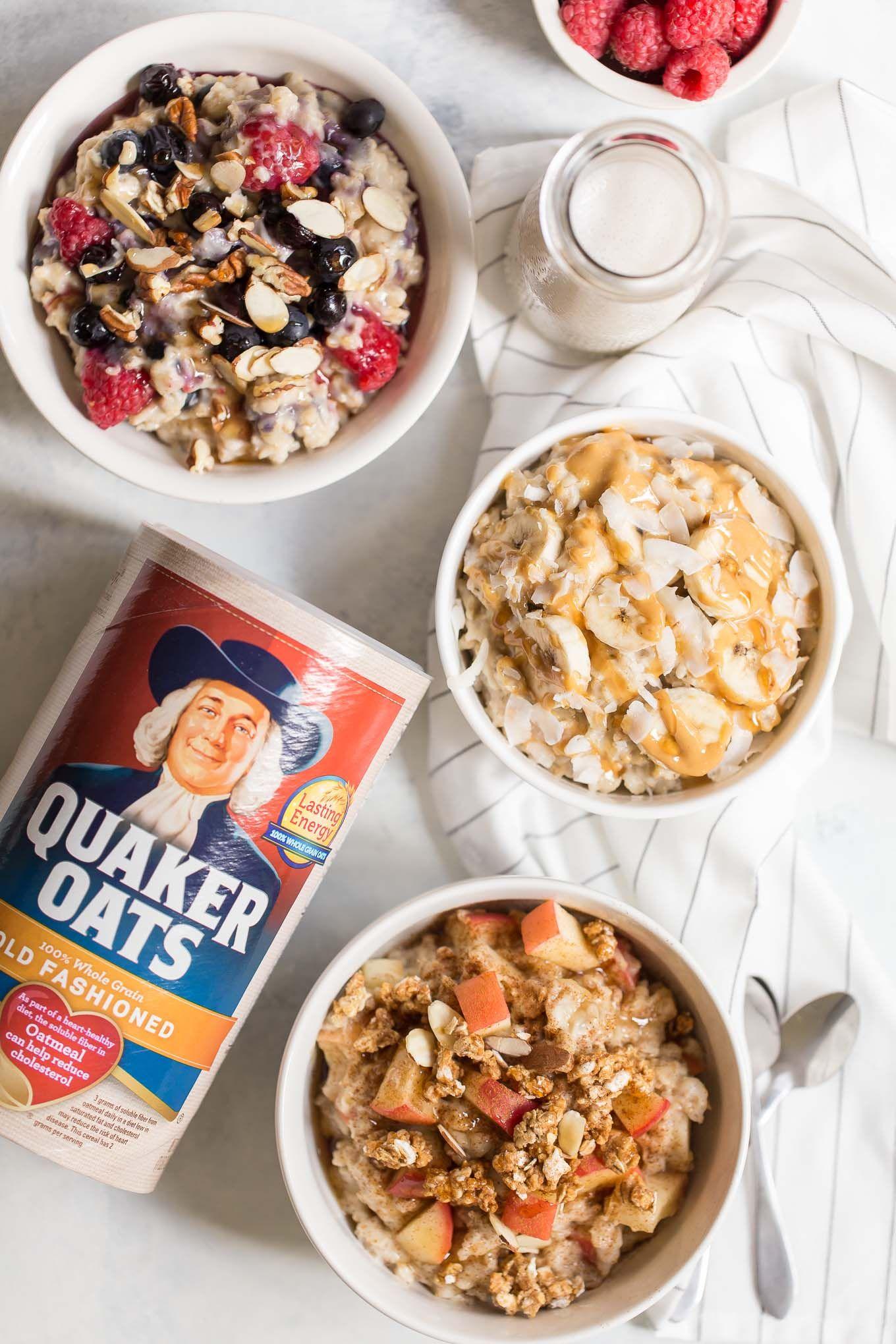 Slow Cooker Oatmeal 3 Ways Recipe Slow Cooker Oatmeal Quaker Oats Recipes Slow Cooker Oatmeal Recipes