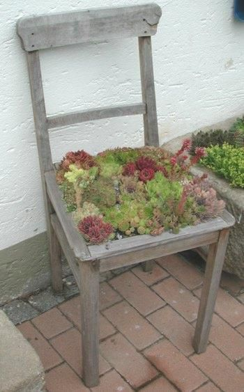 recycled old chair, pretty neat #OldChair Old Chair Pinterest - gartendekoration aus altem holz