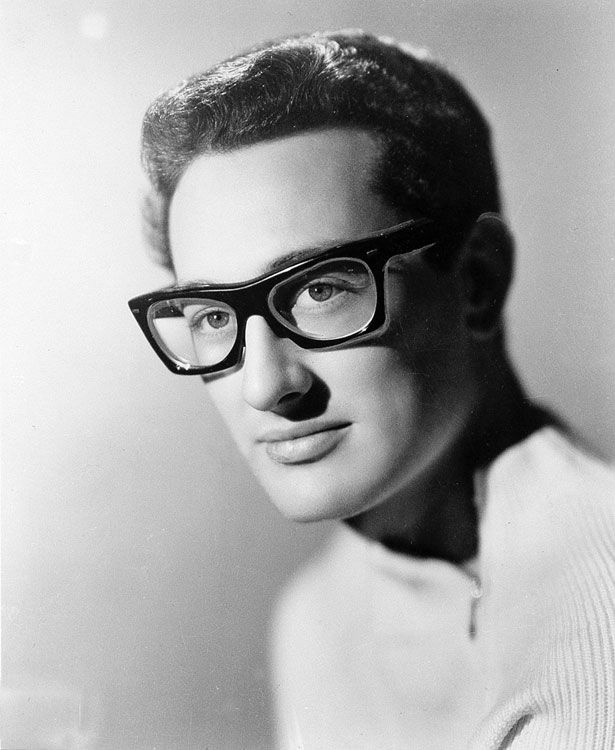 """Buddy Holly A pioneer of rock and roll and an inspiration to the legends who came after him such as The Beatles and Bob Dylan, Buddy Holly's death was even turned into a hit song; """"American Pie"""" by Don McLean. Date: 1950′s. Photographer: Associated Press."""