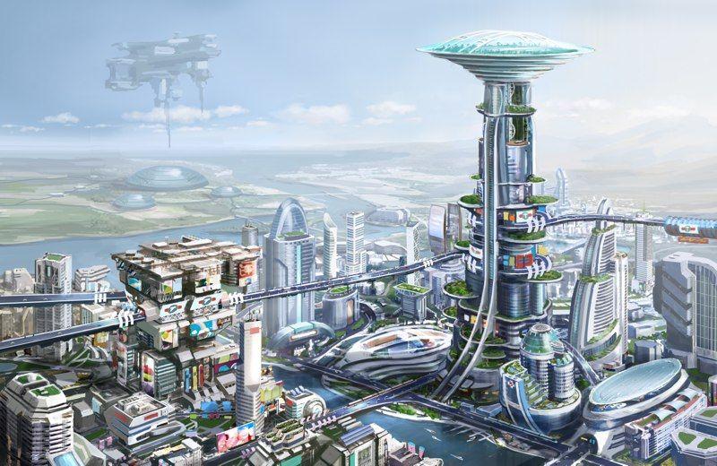 Futurecity Sketch 05 Jpg Futuristic City Future City Sci Fi City