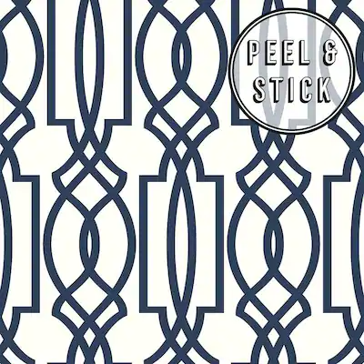 Peel And Stick Wallpaper At Lowes Com Search Results Blue Trellis Wallpaper Trellis Wallpaper Peel And Stick Wallpaper