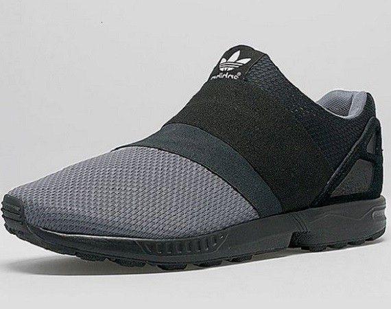 sports shoes bef29 8b901 adidas ZX Flux Slip-on - Black/Grey | Badass Sneakers ...
